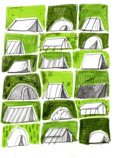 camping tents ... great tie in with 3d forms