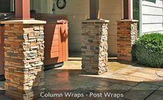 stone columns on a brick house? | fireplace stone stone veneer panels faux brick post wraps brick veneer
