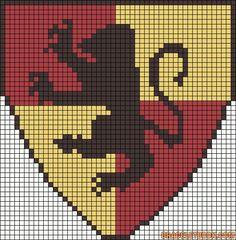 Gryffindor House Harry Potter perler bead pattern