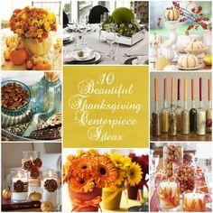 Thanksgiving centerpiece ideas collage