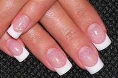 Very pretty french manicure, pink/white
