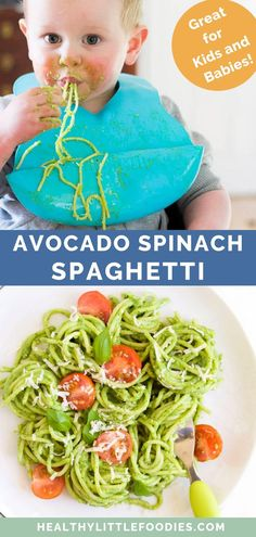 Healthy Little Foodies Avocado Spinach Pasta &; Healthy Little Foodies Jana Steini janasteini food This creamy spinach and avocado pasta is a great […] pasta toddler Avocado Pasta, Spinach Pasta, Spaghetti Spinach, Spinach Baby Food, Avocado Baby Food, Healthy Toddler Meals, Healthy Meals For Kids, Meals For Toddlers, Toddler Food