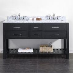 OVE Decors Sarasota 60 in. Double Bathroom Vanity - SARASOTA 60 VANITY IN ESPRESSO