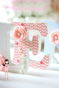 Letras de MDF pintadas e decoradas... by Ei menina! - Érica Catarina, via Flickr