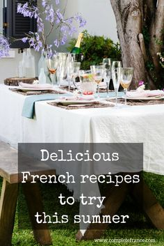 From salads to seafood to fruit desserts, add a French twist to your summer cooking with these traditional French recipes Traditional French Recipes, French Food, Mediterranean Diet, Seafood, Salads, Food And Drink, Table Decorations, Fruit, Cooking