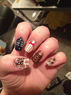 Doctor who nails #nerd #bowtiesarecool #tardis