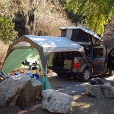 Camping with the REI Alcove #fifthelementcamping #hondaelement #elementownersclub #adventuremobile #adventureunknown #Element #liveoutdoors #carcamper #carcamping #goexploreusa #slowwideturns #expeditionportal #goodtimes #liveoutdoors #REI #REIAlcove #ecamper #ursaminorvehicles by fifthelementcamping