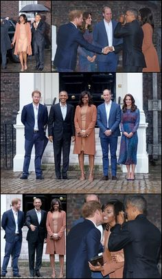 President BarackObama FirstLady MichelleObama PrinceHarry, PrinceWilliam and KateMiddleton  at KensingtonPalace as they attend a dinner on April 22, 2016 in London, England.