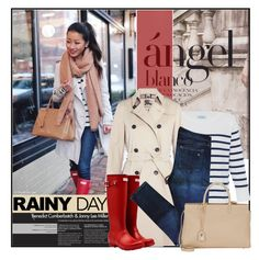 """""""Rainy day"""" by anchystar90 ❤ liked on Polyvore featuring HANIA by Anya Cole, Burberry, Hunter, rag & bone, Yves Saint Laurent, rainyday, polyvorecontest and rainydaystyle"""