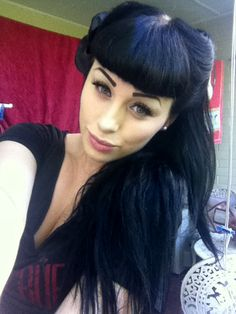 Purple & Black Rockabilly hair