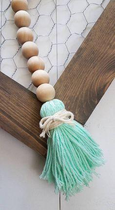 Wood Bead Garland - 3ft - Bead Garland - Farmhouse Decor - Farmhouse - Garland - Wood Beads - BoHo - So Minty - Free Shipping