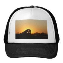 Sunset Train Trucker Hat