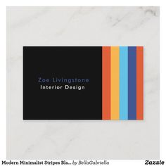 Shop Modern Minimalist Stripes Black Designer Business Card created by BellaGabriella. Japanese Graphic Design, Vintage Graphic Design, Graphic Design Layouts, Graphic Design Posters, Brochure Design, Layout Design, Design Design, Elegant Business Cards, Business Card Size