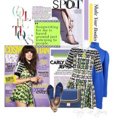 Boot me up - Wear Bright Colors like Carly Rae Jepsen this Winter by gench on Polyvore featuring мода, Peter Pilotto, STELLA McCARTNEY, Jerome C. Rousseau, Marc Jacobs, Meredith Wendell, meredith mendell necklace, moda operandi clutch, stella mccartney coat and peter pilotto dress