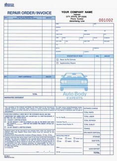 Repair Work Order Form Template Free Printable Business Form - Make your own invoice template free japanese clothing stores online