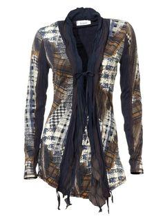 Bluza cu imprimeu tip jacheta, Linea Tesini. Shirts, Long Sleeve, Sleeves, Sweaters, Shopping, Tops, Women, Fashion, Figurine