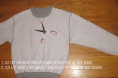 Update an old sweatshirt