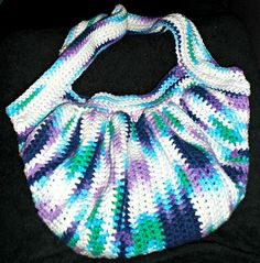 "Free Crochet Pattern: The ""Fat Bag""...Even Fatter! My new favorite purse!"