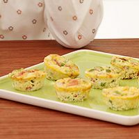 mix n match any veggies on hand - plus it's a great use for that mini muffin tin!