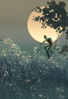 Pascal Campion, The home stretch I love the feeling. Pascal Campion, Art Et Illustration, Illustrations, Art Amour, Bicycle Art, Cycling Art, Art Graphique, Art Design, Oeuvre D'art