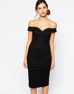 Bardot+Sweetheart+Off+Shoulder+Dress