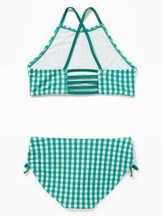 4e53f3463 High-Neck Strappy-Back Tankini Swim Set for Girls. Old NavySwimmingSwim ...