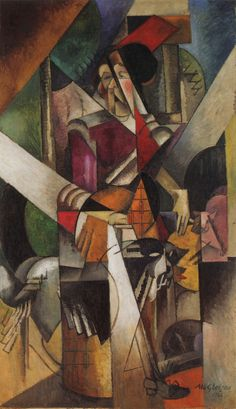 Albert Gleizes, Woman with animals (Madame Raymond Duchamp-Villon), 1914