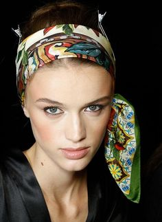 "very how-to .  like the ""tied to the side"" look....how to wear scarf in hair"