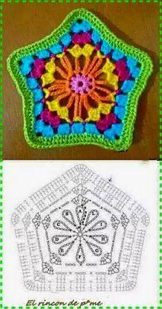 Letras e Artes da Lalá: Squares/quadradinhos de crochê (fotos: pinterest)