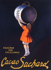 CUP CHOCOLATE CACAO SUCHARD GIRL CHILDREN FRENCH VINTAGE POSTER REPRO LARGE | eBay