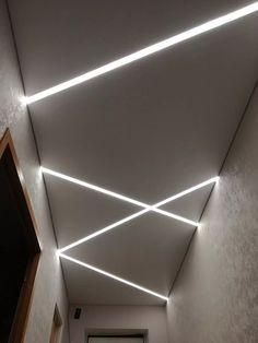 Gypsum Ceiling Design, Interior Ceiling Design, House Ceiling Design, Ceiling Design Living Room, Bedroom False Ceiling Design, Ceiling Light Design, Home Room Design, Interior Lighting, Led Hallway Lighting