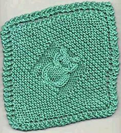This owl dishcloth, designed by Janelle Schlossman, is available free at Knitting on the Net.