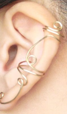 way too cute. no piercing required. spiral cuff for ear