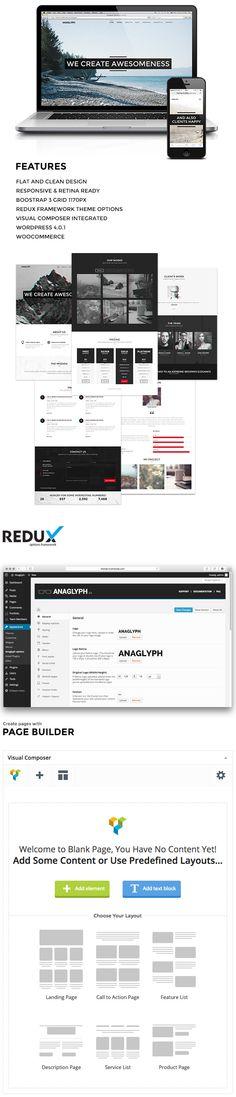 WordPress - ANAGLYPH - One page / Multi Page WordPress Theme | ThemeForest