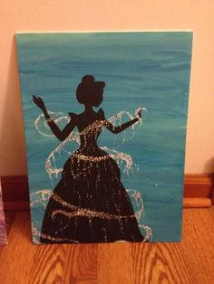 Disney Cinderella Silhouette Painting by MariahSweetHappiness
