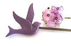 #Bird #Hair #Accessories Purple #Bobby Pin #Set #Clips by PlumePretty, $18.00