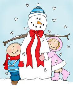 Free Dearie Dolls Digi Stamps: Gotta Love the Snowman