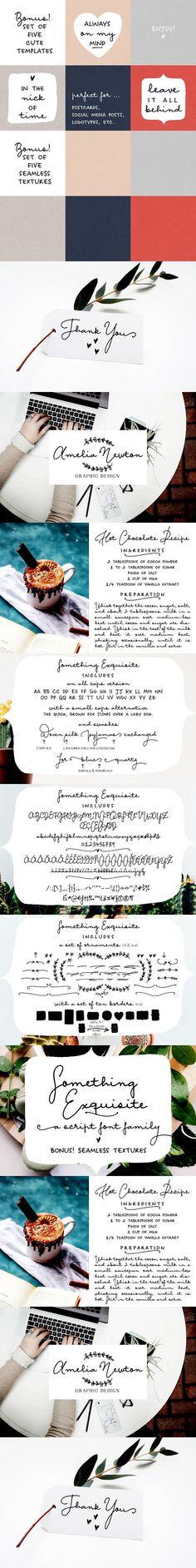 Something Exquisite | a script font. Scrapbooking Fonts