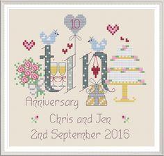 Tin Anniversary 10 Years - Nia Cross Stitch