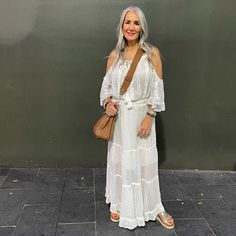 Boho outfit idea for women   For more style inspiration visit 40plusstyle.com
