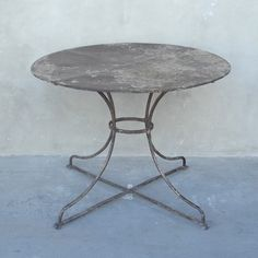 iron table with great patina