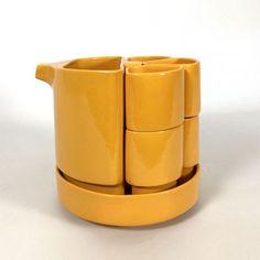 1960s Furniture, Furniture Design, Modular Design, Ceramic Design, Vintage Design, Tea Set, Interior Decorating, Clay, Tableware