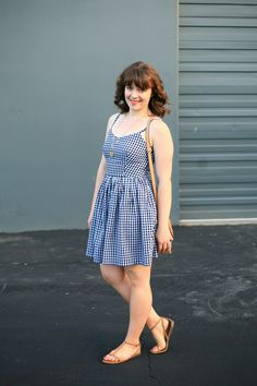 I made this black and white gingham dress  earlier this summer and I'm pretty much obsessed. I've worn it quite a few times and it's so vers...