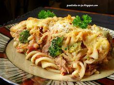 Smak mojej kuchni...: Zapiekanka makaronowa z tuńczykiem i brokułami