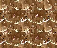 Dear Deer fabric by isabelc on Spoonflower - custom fabric