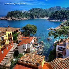 """Postcard from #AiguaBlava #Begur #inCostaBrava By @everythingeverywhere """"Tomorrow is my last day in Catalonia before I head back to the U.S. I thought I'd post one of my favorite photos taken in the region. I took this photo back in 2011. It is the view out my window at the Hotel Aigua Blava.""""  Picture by @everythingeverywhere (Instagram)"""