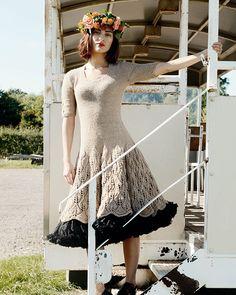 Maddie Leaf Dress Knitting Pattern | Purl Alpaca Designs