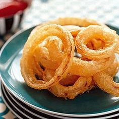 Summer Picnic Menu, SIDE DISH   Tempura Onion Rings #RRMenuPlanner