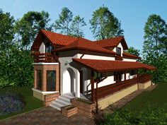 Proiecte de case pe teren cu deschidere mica narrow lot house plans 6 Gazebo, Pergola, Narrow Lot House Plans, Design Case, House Tours, Exterior, Outdoor Structures, House Design, How To Plan