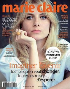 Marie Claire France, Melanie Laurent, French People, Digital, Magazine Covers, Products, Journals, Cover Pages, Veneers Teeth